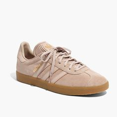 Adidas® Unisex Gazelle® Lace-Up Sneakers in Tan