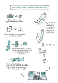How to Fold Socks, Stockings, and Thick Tights (Marie Kondo)