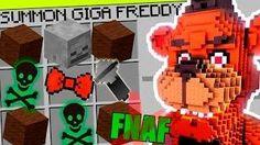 Minecraft FNAF - How To Summon GIGA Freddy in a Crafting Table! Minecraft Teen Titans GO!