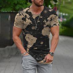 Casual T Shirts, Men Casual, Graphic Tee Shirts, 3d Shirts, Men's Wardrobe, Casual Street Style, Printed Shorts, Tshirts Online, Mens Fashion
