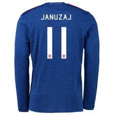 Manchester United 16-17 Adnan #Januzaj 11 Udebanesæt Lange ærmer,245,14KR,shirtshopservice@gmail.com