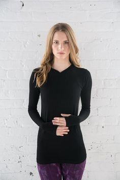 FP Movement - shop the Hooded Long Sleeve *swoon! Activewear, Free People, Turtle Neck, Feminine, Bohemian, Long Sleeve, Sweaters, Shopping, Collection