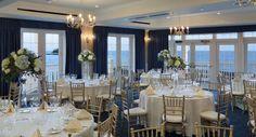 Ballroom at the Madison Beach Hotel overlooking Long Island Sound.