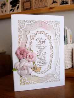 Using Spellbinders Majestic Labels 25 and Our Daily Bread scripture