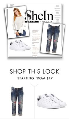 """Untitled #69"" by happines-1 ❤ liked on Polyvore featuring adidas Originals, Haute Hippie and Whiteley"