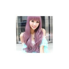 Long Full Wig - Curly Taro Purple ($39) ❤ liked on Polyvore featuring beauty products, haircare, hair styling tools, accessories, wig, curly hair care and clair beauty
