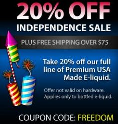 july 4th e liquid sale