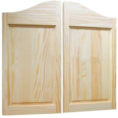 Get Interior Swinging Doors That Everyone Will Love! Saloon Swinging Doors are Made of Furniture Grade Clear Pine and are Master Crafted to Increase Density and Eliminate Warping. Interior Saloon Swinging Doors are 34 Inches Tall and Include Hardware. Cafe Door, Unfinished Furniture, Door Images, Seal Design, Swinging Doors, Small Bathroom Storage, Door Sets, Man Cave Bar, Raised Panel