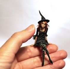OOAK Fantasy Art Doll Very Tiny Witch | eBay