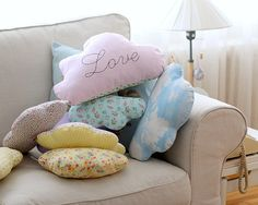 Cloud Cushion Cloud Pillow for Nursery Decor by deconoHut on Etsy