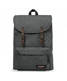 717982166f8c6 London Black Denim Backpacks by Eastpak - Front view. Squared Clothing