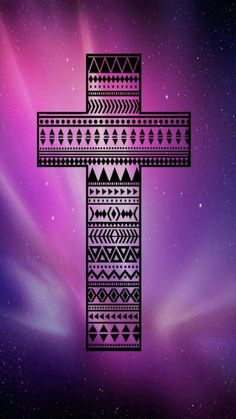 Tribal cross. This would be beautiful as a bracelet!