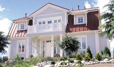 Rauhala - Kannustalo Nordic Home, Scandinavian Home, Exterior House Colors, Exterior Design, Home Focus, Home Fashion, Beach House, Room Decor, Yard