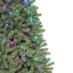 Martha Stewart Living 7.5 ft. Pre-Lit LED Downswept Denison Spruce ...