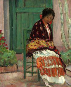 Henri Lebasque Woman In Flowery Shawl Renoir Paintings, French Paintings, Oil Paintings, Art Magique, Web Gallery Of Art, Classical Realism, Virtual Museum, Sculpture, Henri Matisse