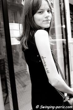 Freja Beha Erichsen exiting Valentino show, Paris Haute Couture F/W Fashion Week, July 2011