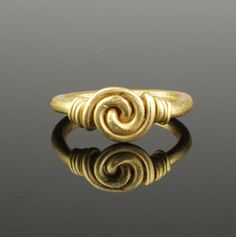 STUNNING ANGLO SAXON GOLD KNOT RING - CIRCA 7TH/8TH CENTURY AD
