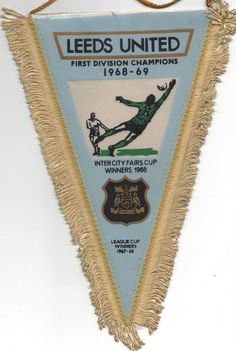 Original pennant LEEDS UNITED - Champion 1968/69