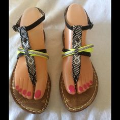 Sam& Libby sandals Nice never worn pretty colors Sam & Libby Shoes Sandals