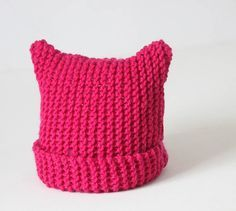 One of my most popular knitting patterns of all time is my women's Cat Ear Hat. I received many requests for a little girl's version, so...