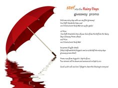 Stef's Wardrobe: Stef into the Rainy Days Giveaway promo. Runs on August 8 - Sept 8 2012