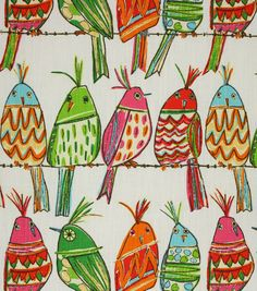 Richloom Studio Upholstery Print Fabric-Ginger Rainbow