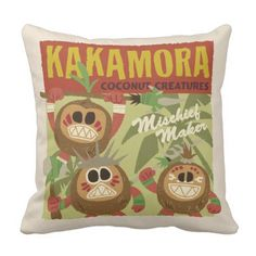 Moana | Kakamora - Coconut Creatures Throw Pillow.  Have a look at even more by visiting the image