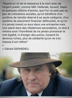 Depardieu Hollande Sapin