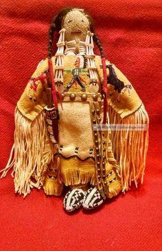 Native American Tanned Buckskin Doll