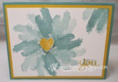 handmade card: Stamp & Scrap with Frenchie: Flowers with the Work of Art ... quick and easy flower with the hand painted look ... luv it! ... Stampin'Up!