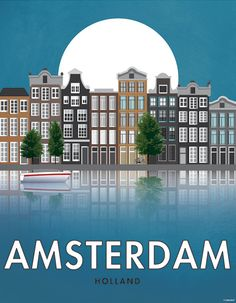 Amsterdam. Holland. Affiche. Art. Impression par SomeLikeItShop
