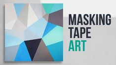 Geometric Acrylic Painting with Masking Tape / Easy DIY Painting Art Dem... Masking Tape Art, Easy Abstract Art, Night Sky Painting, Diy Painting, Geometric Shapes, Easy Diy, Art Journaling, Teaching Resources, Youtube