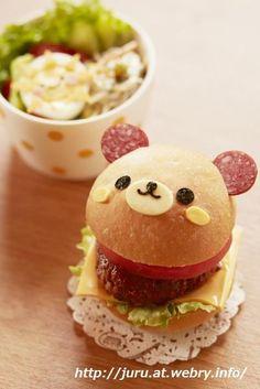 Bear hamburger