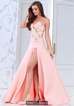 Tarik Ediz Long Beaded Dress 50065