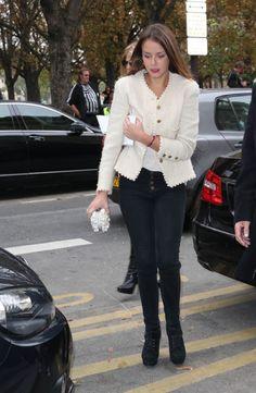 Pauline Ducruet (daughter of Princess Stephanie of Monaco) attends the Chanel runway show during Paris Fashion Week 10/1/2013