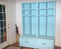 Taller Braden Entryway Drawer Bench and Hutch