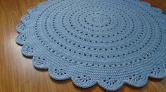 Round crochet doily rug / crochet carpet / crochet rug by Stefkowo