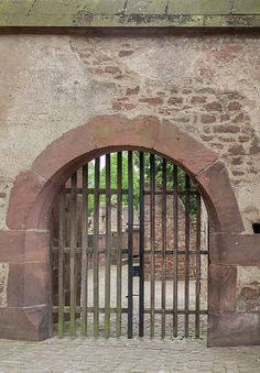 An arched gate at Heidelberg Castle in Germany