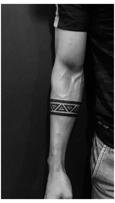 Tribal Band Tattoo, Wrist Band Tattoo, Forearm Band Tattoos, Tribal Shoulder Tattoos, Maori Tattoo Arm, Black Band Tattoo, Black Tattoos, Armband Tattoos For Men, Armband Tattoo Design