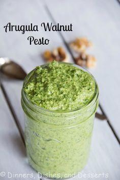 Arugula Walnut Pesto | Dinners, Dishes, and Desserts