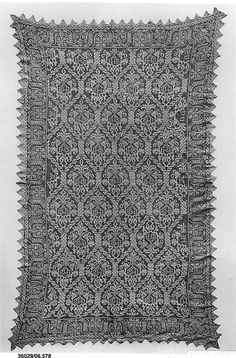 Altar cloth Date: 16th century Culture: Italian or French Medium: Embroidered net Accession Number: 06.578