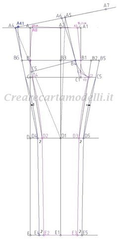 BASE PER PANTALONE ADERENTE – Su Misura e Senza difetti! Rock And Roll Jeans, Technical Drawing, Pants Pattern, Vintage Sewing, Pattern Design, Trousers, Petra, Craft, Step By Step