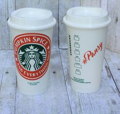Pumpkin Spice Starbucks Reusable Coffee Cup-Travel Cup-Pumpkin spice…