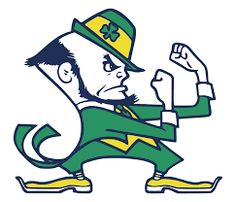 Notre Dame Fighting Irish Cross Stitch Pattern***L Notre Dame Football, Notre Dame Mascot, Notre Dame Logo, Fighting Irish, Fighting Sioux, College Football, Football Team, Football Quotes, Alabama Football