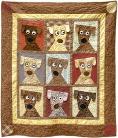 How adorable is this handmade quilt--a raffle for Friends of Falmouth Dogs!
