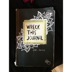wreck this journal Wreck This Journal ❤ liked on Polyvore