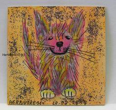 STRUWWELPETER Nr. 2 von Herbivore11 Legekarte Minibild Katze kleine Kunst Unikat