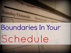 Kristin Sterk: Boundaries in Your Schedule