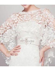 Wedding  Wraps Capelets Sleeveless Lace Ivory – GBP £ 31.16