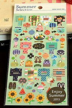 Kawaii Japanese Decor Sticker Set (Mind wave)